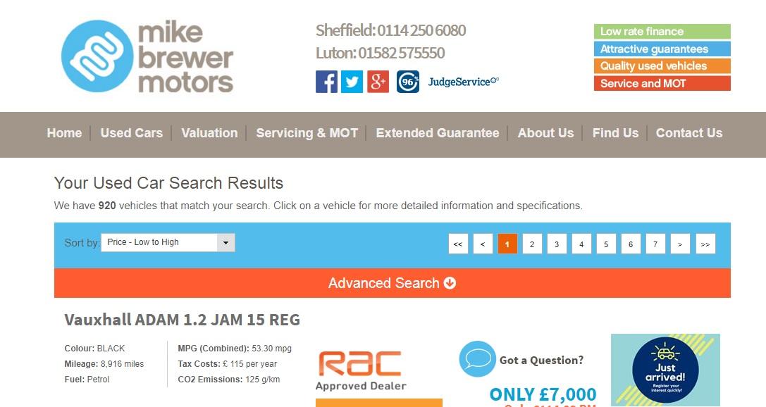 Mike Brewer Motors Sheffield