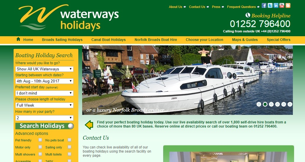 Waterways Holidays numbers