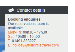 Full Circle Travel Bookings