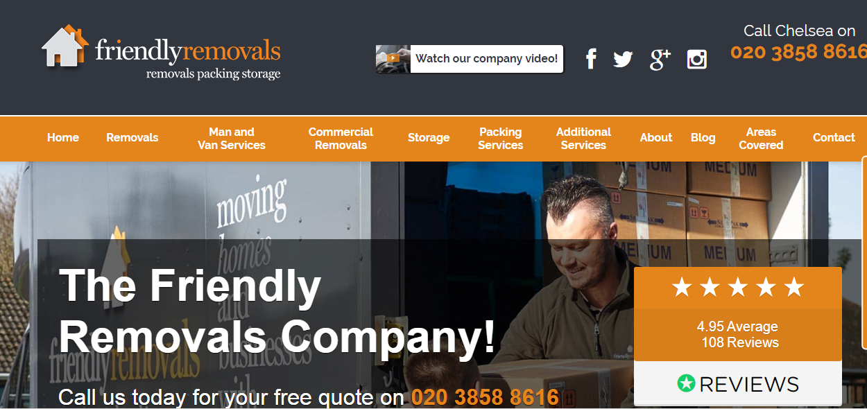Friendly Removals Chelsea Contact Number