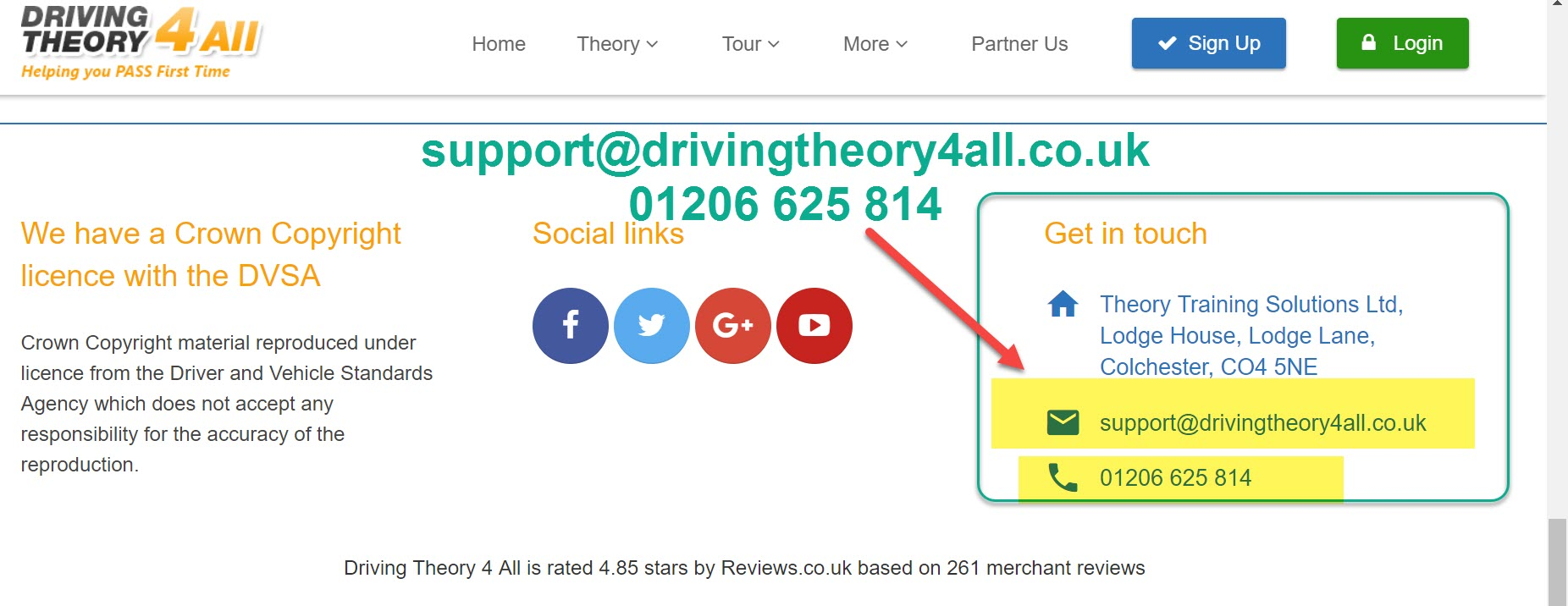 drivingtheory4all contact number