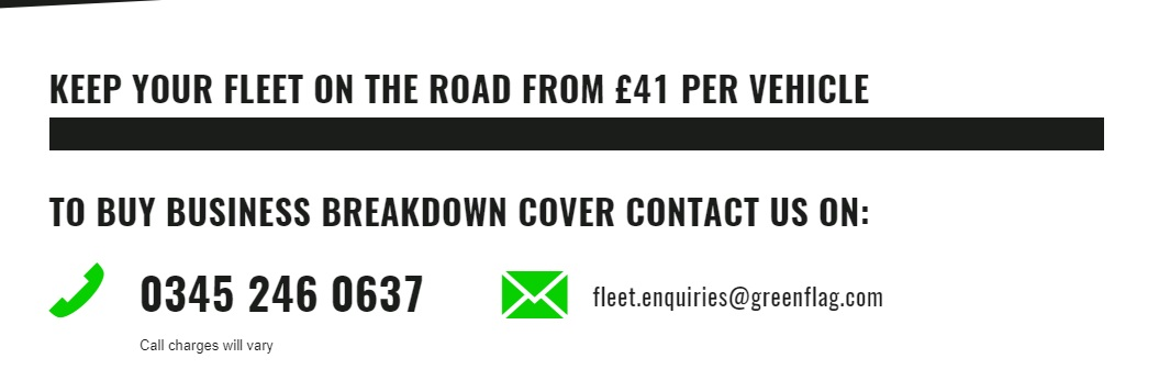 Green Flag Business Breakdown Cover Number