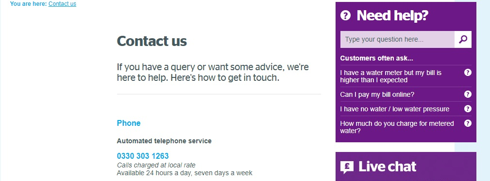 southern water customer services