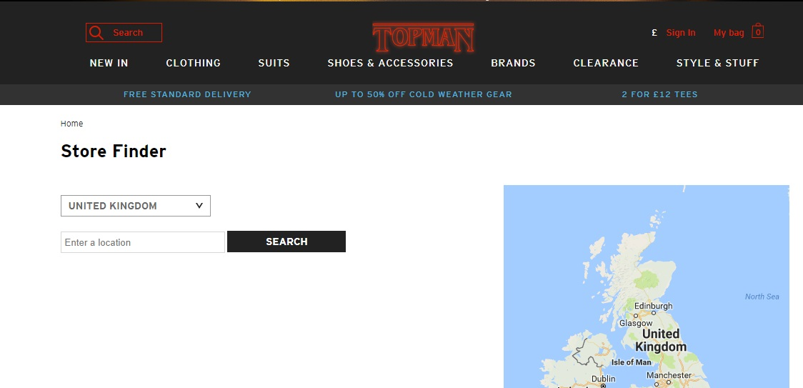 Topman Stores UK