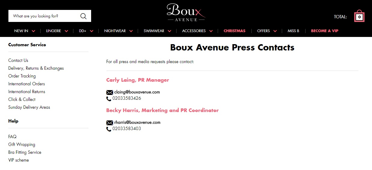 boux avenue press contact
