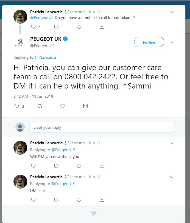 Peugeot free contact number