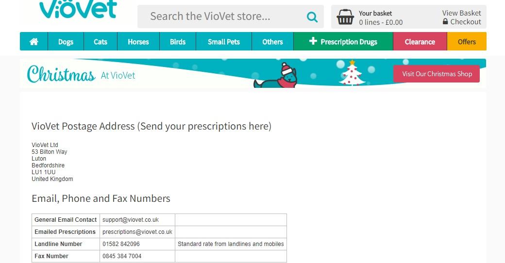 viovet customer service