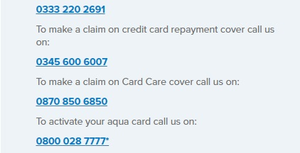 aqua card card activation number