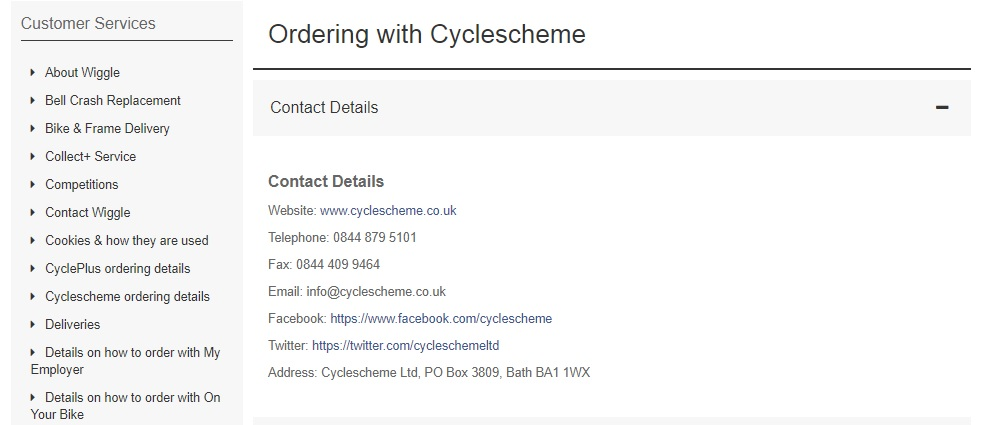 Wiggle Cycle scheme contact