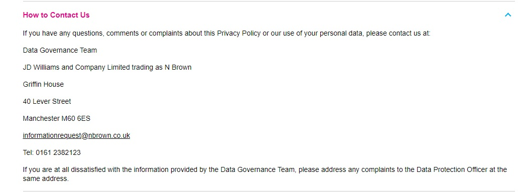 Fashion World UK privacy policy