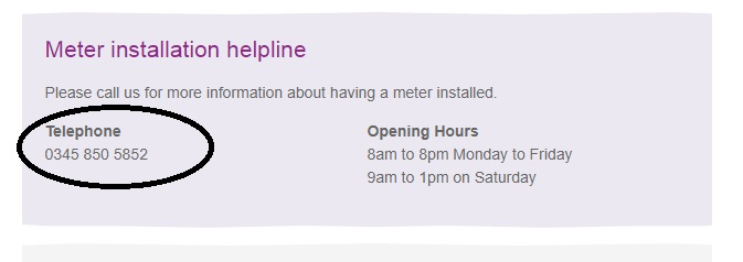 Anglian Water install meter