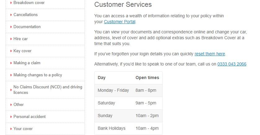 1st Central customer service