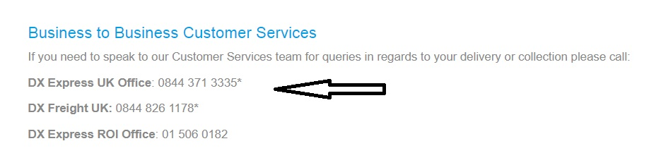 DX UK business customer service