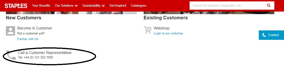 Staples business customer support