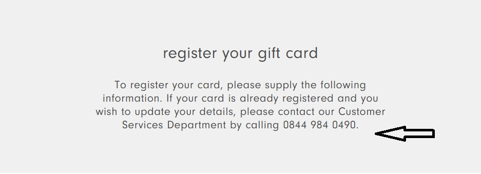 Wallis UK Corporate Gift Card Contact