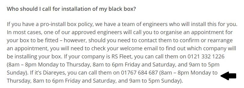 Wise Driving black box installation