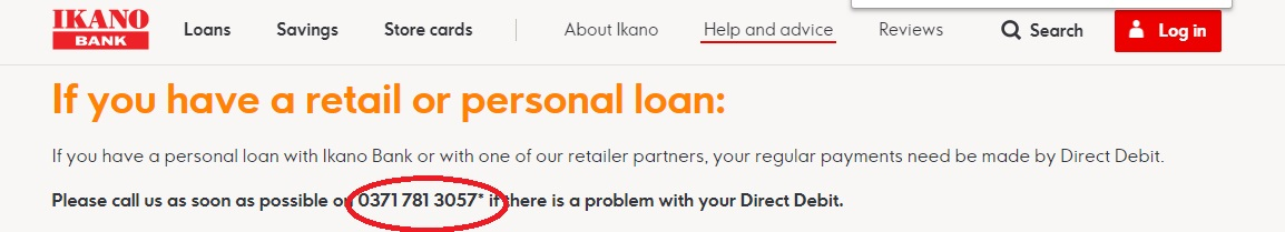 Ikano Bank Payment options