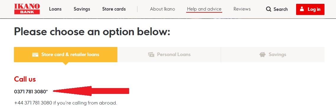 Ikano Bank Store Card Phone Number