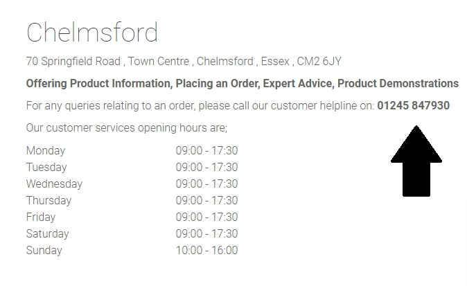 Mattressman Chelmsford Store Contact